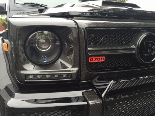 BRABUS Headlight Covers for Vehicle with Daytime Running Lights. Visible Carbon Glossy-0